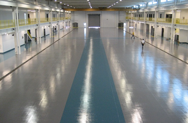 stonclad gs flooring in helicopter hangar